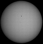 Mercury Transit May 6, 2016 near the end